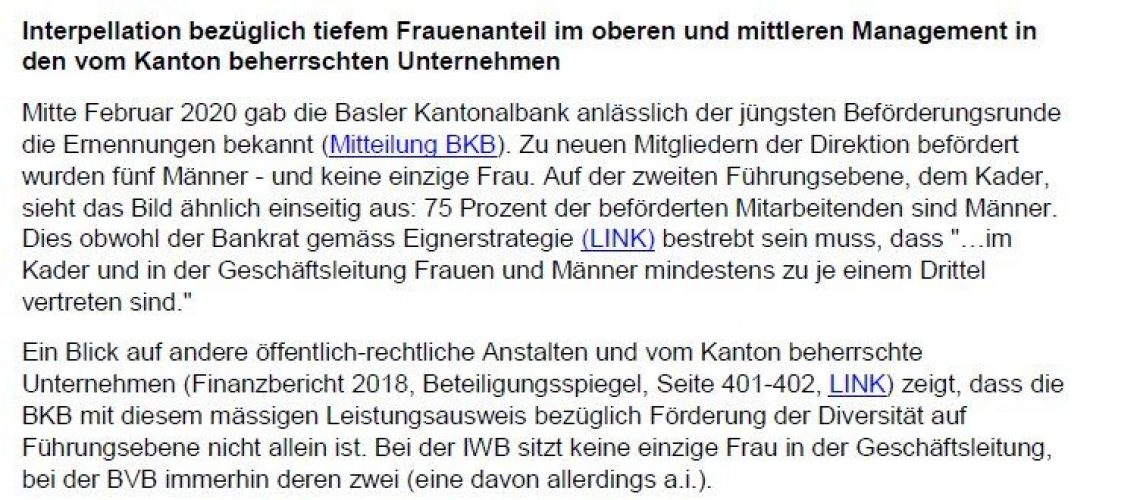 Interpellation_Frauenanteil